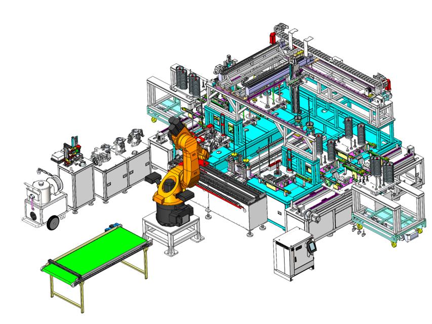 水力部件机器人自动组装